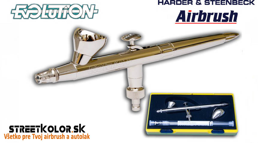 Airbrush pištoľ HARDER & STEENBECK Evolution SILVERLINE fPc 2v1 0,15+0,4mm