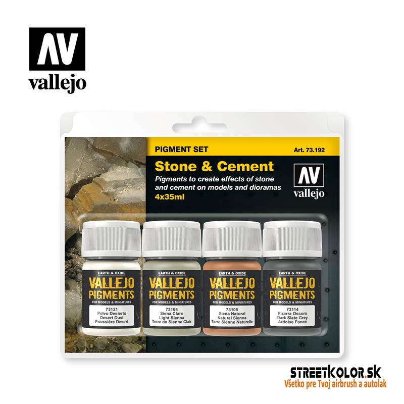 Vallejo pigment - Stone and Cement set 73192 4 x 30ml