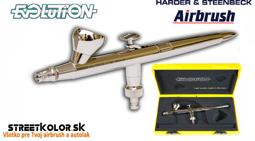 Airbrush pištoľ HARDER & STEENBECK Evolution Silverline Solo 0,2 mm + stojan