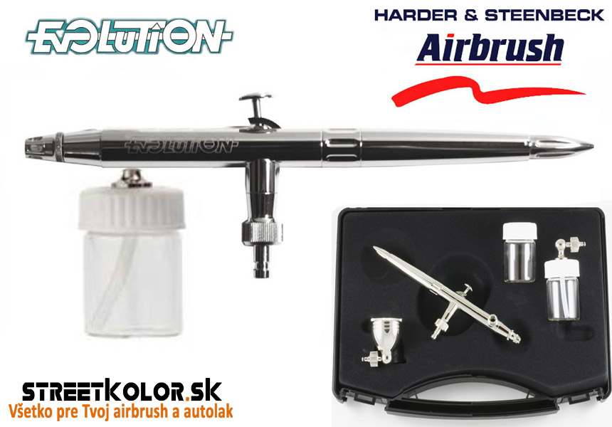 Airbrush striekacia pištoľ HARDER & STEENBECK Evolution Silverline M 0,4mm