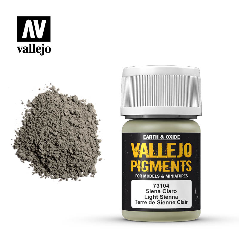 Vallejo pigment - LIGHT SIENNA 73104