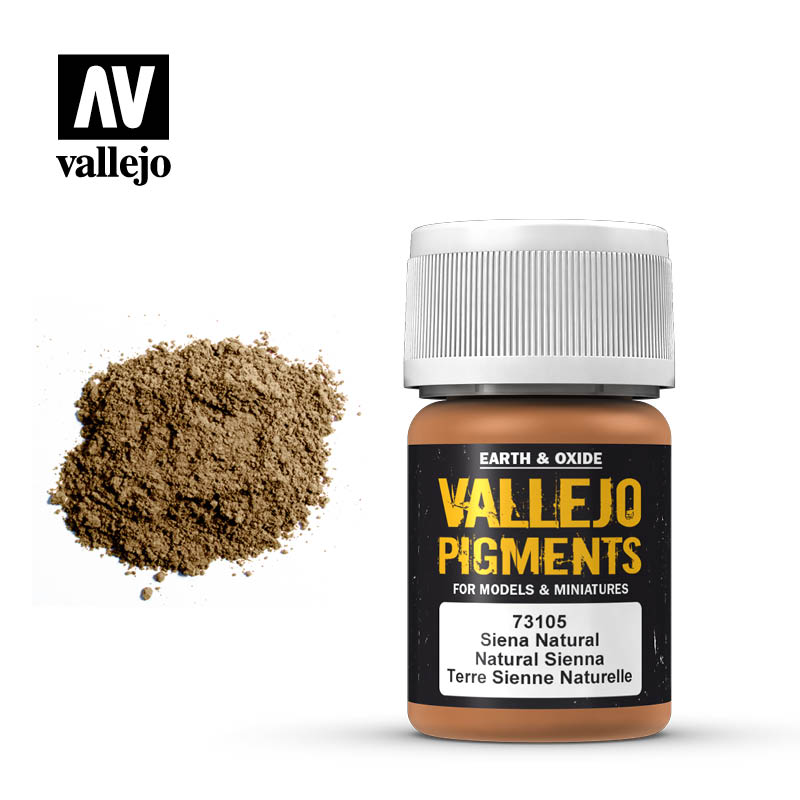 Vallejo pigment - NATURAL SIENNA 73105