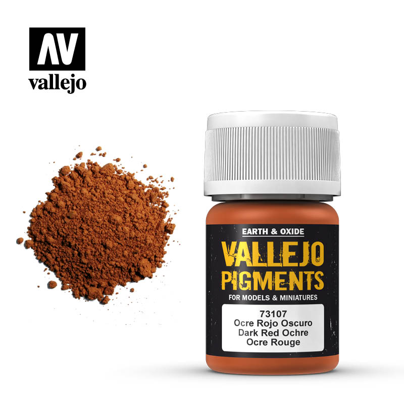 Vallejo pigment - DARK RED OCHRE 73107