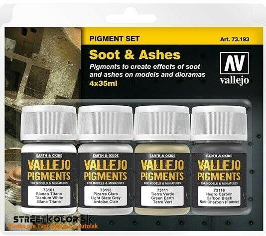 Vallejo Set Soot and Ashes  73193  4 x 30ml