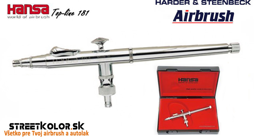Airbrush striekacia pištoľ HARDER & STEENBECK Hansa Topline 181 Chrome 0,2 mm