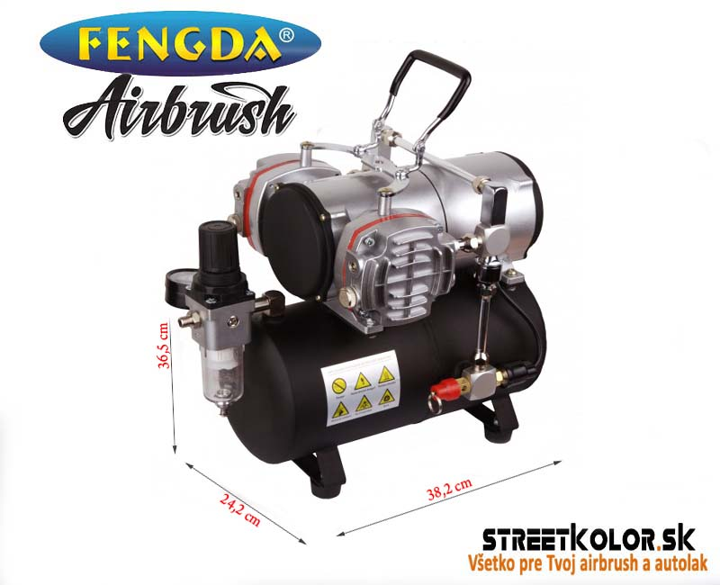 Dvojvalcový airbrush kompresor FENGDA ®  AS-28A