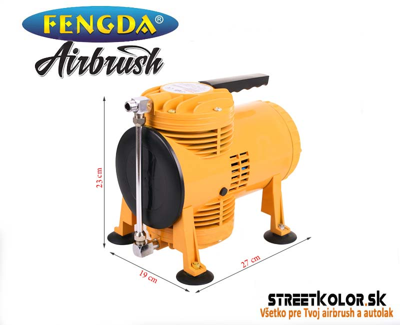 Airbrush kompresor FENGDA ® AS-08, 128l/ min.