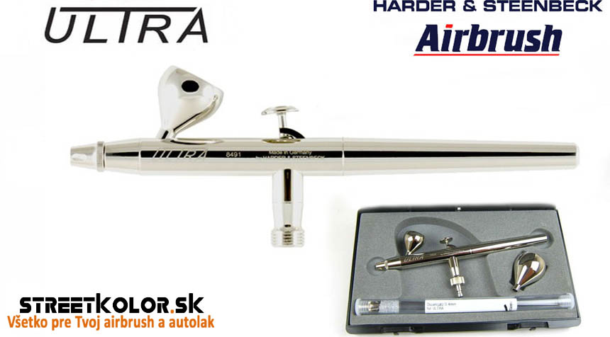 Airbrush striekacia pištoľ HARDER & STEENBECK ULTRA 2v1, 0,2+0,4mm