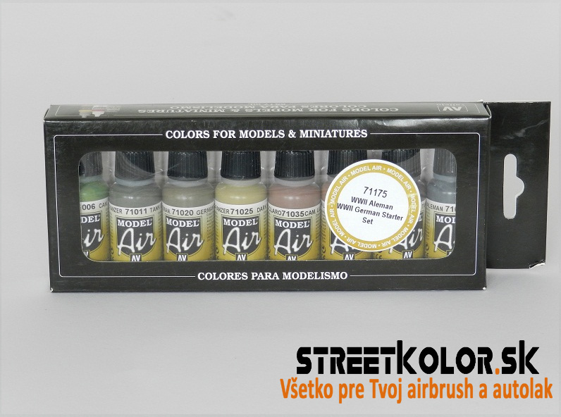 Vallejo sada  71175 airbrush farieb WW2 German 8x17 ml