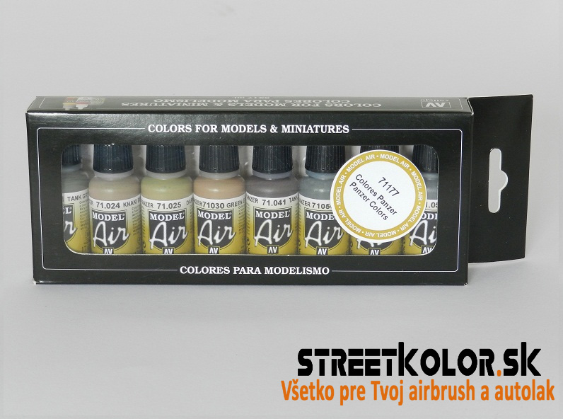 Vallejo sada 71177 airbrush farieb Tank paints 8x17 ml