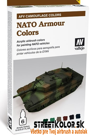 Vallejo sada airbrush farieb NATO Armour colors 6x8 ml