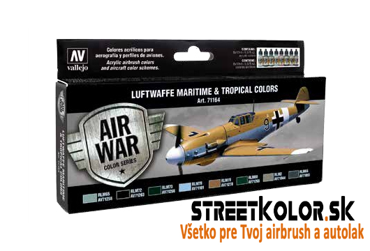 Vallejo sada 71.164 airbrush farieb Luftwafe Maritime and Tropical 8x17 ml