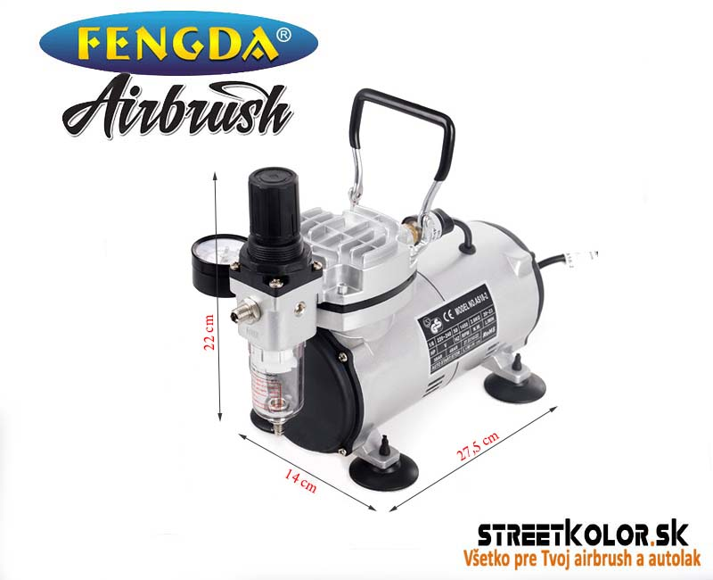Airbrush kompresor FENGDA ® AS18-2 Jednovalcový