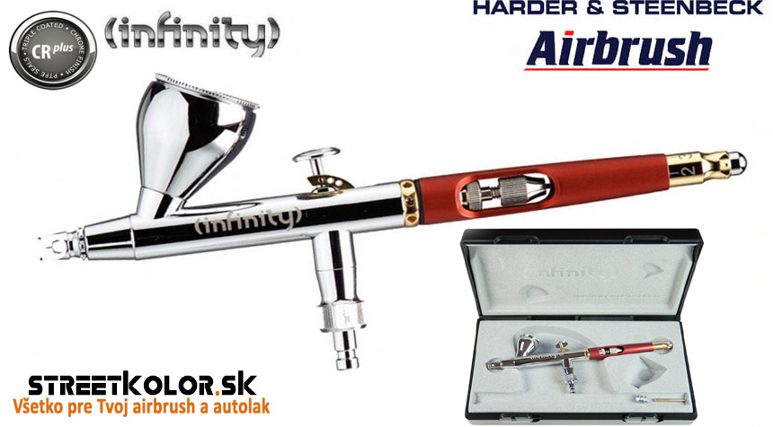 Airbrush striekacia pištoľ HARDER & STEENBECK  Infinity CRplus 0,15mm