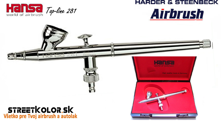 Airbrush striekacia pištoľ HARDER & STEENBECK Hansa Topline 281 Chrome 0,2 mm