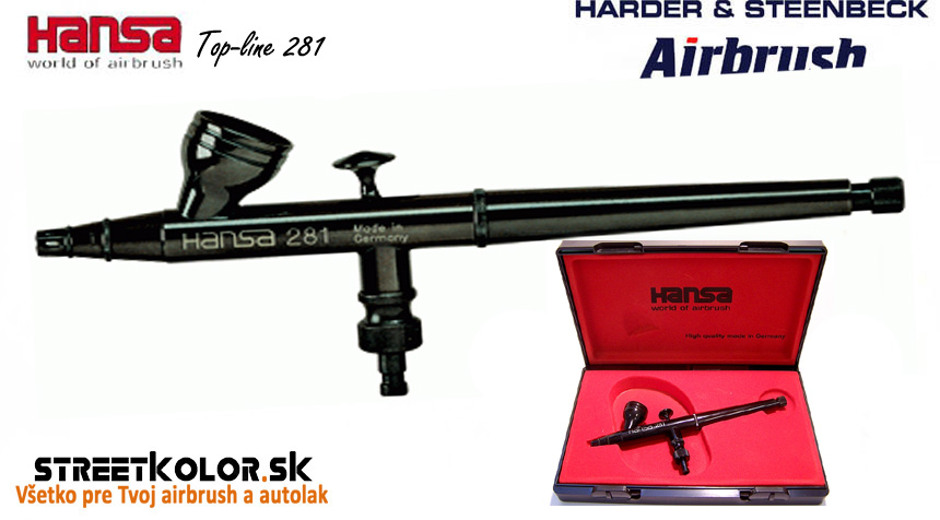 Airbrush striekacia pištoľ HARDER & STEENBECK Hansa Topline 281 Black 0,2 mm