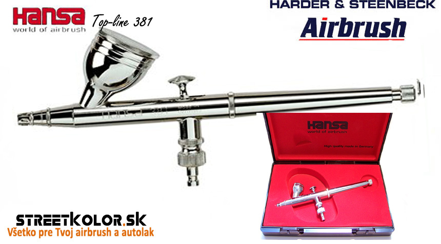 Airbrush striekacia pištoľ HARDER & STEENBECK Hansa Topline 381 Chrome 0,3 mm