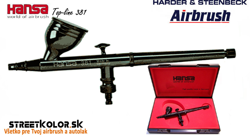 Airbrush striekacia pištoľ HARDER & STEENBECK Hansa Topline 381 Black 0,3 mm