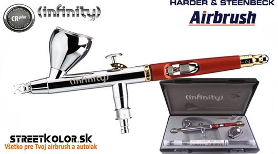 Airbrush striekacia pištoľ HARDER & STEENBECK  Infinity CRplus 2v1, 0,15+0,4mm
