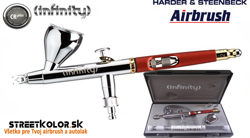Airbrush striekacia pištoľ HARDER & STEENBECK  Infinity CRplus 2v1, 0,2+0,4mm
