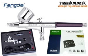 FENGDA FE-130K airbrush set 0,2+0,3+0,5 mm ihla a tryska + hadica, model:2018